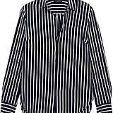 Striped Silk Crepe de Chine Shirt ($170)