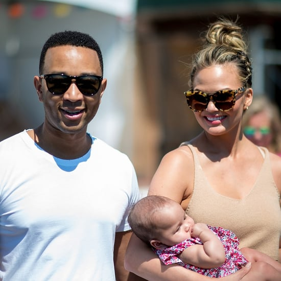 Chrissy Teigen With John Legend and Luna in NYC August 2016