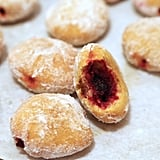 Pumpkin Sufganiyot With Cranberry Jam Filling