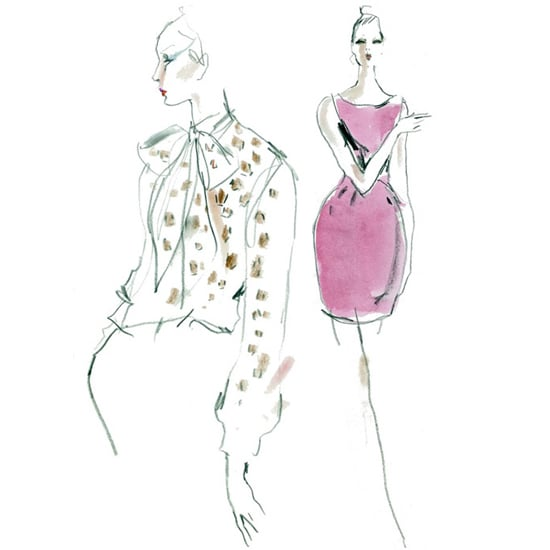 Saint Laurent Paris Resort 2013 Sketches