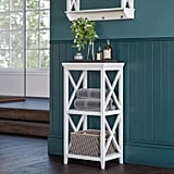 3-Shelf Cross Frame Etagere Tower