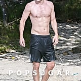 Robert Pattinson Working Out on the Beach Shirtless