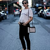 Or With a Simple White Tee, Black Jeans, and a Crossbody Bag