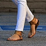 Cameron Diaz wore sandals while out shopping in California.