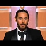 "Jared Leto Thanking the ""Rayons"" of the World"