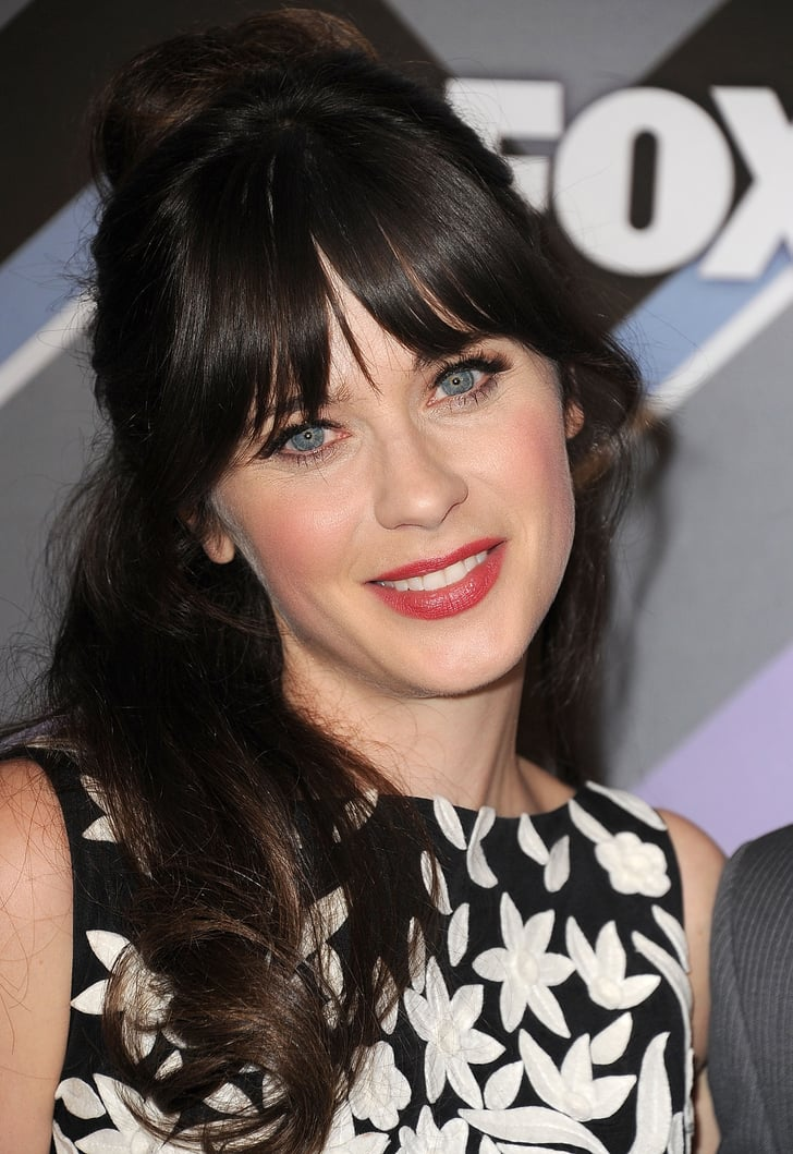 styling hair for zooey deschanel fringe styles for 2013 7390
