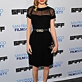 Kate Bosworth showed off the chicest kind of LBD, an Oscar de la Renta look with a sheer inset neckline, at the San Francisco Film Festival.