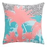 Pink Palm Tree Mix Print Pillow