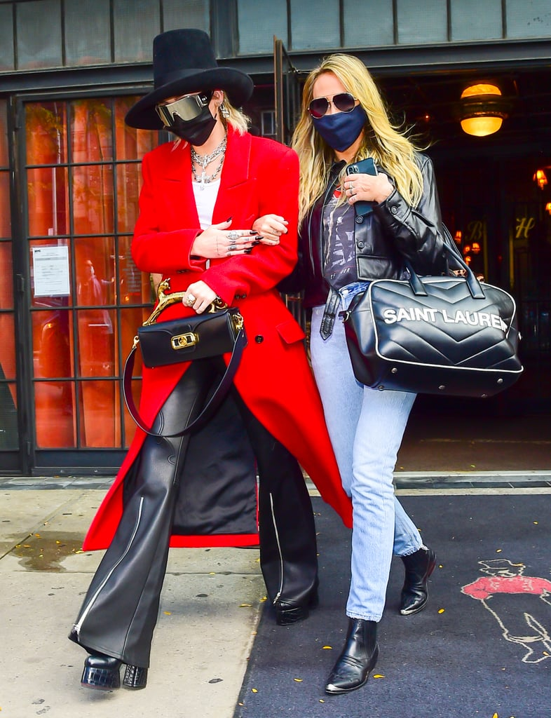 Miley Cyrus and Tish Cyrus in New York City