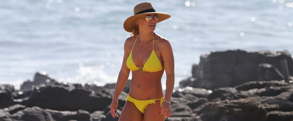 Britney Spears on the Beach in Hawaii January 2018