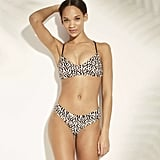 Lace-Up Back Bralette Leopard Bikini