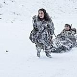 Ellie Kendrick as Meera and Isaac Hempstead Wright as Bran