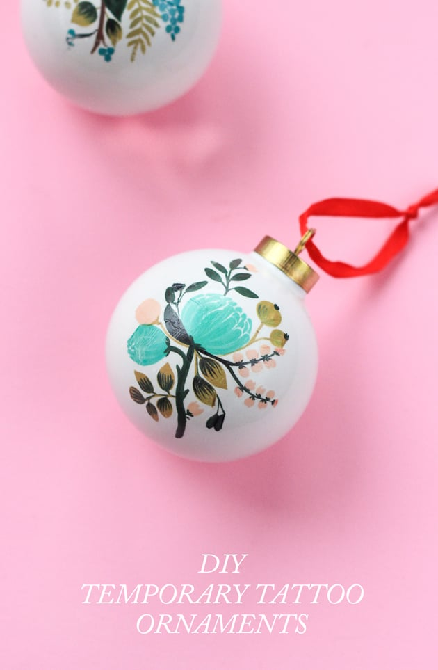DIY Temporary Tattoo Ornaments