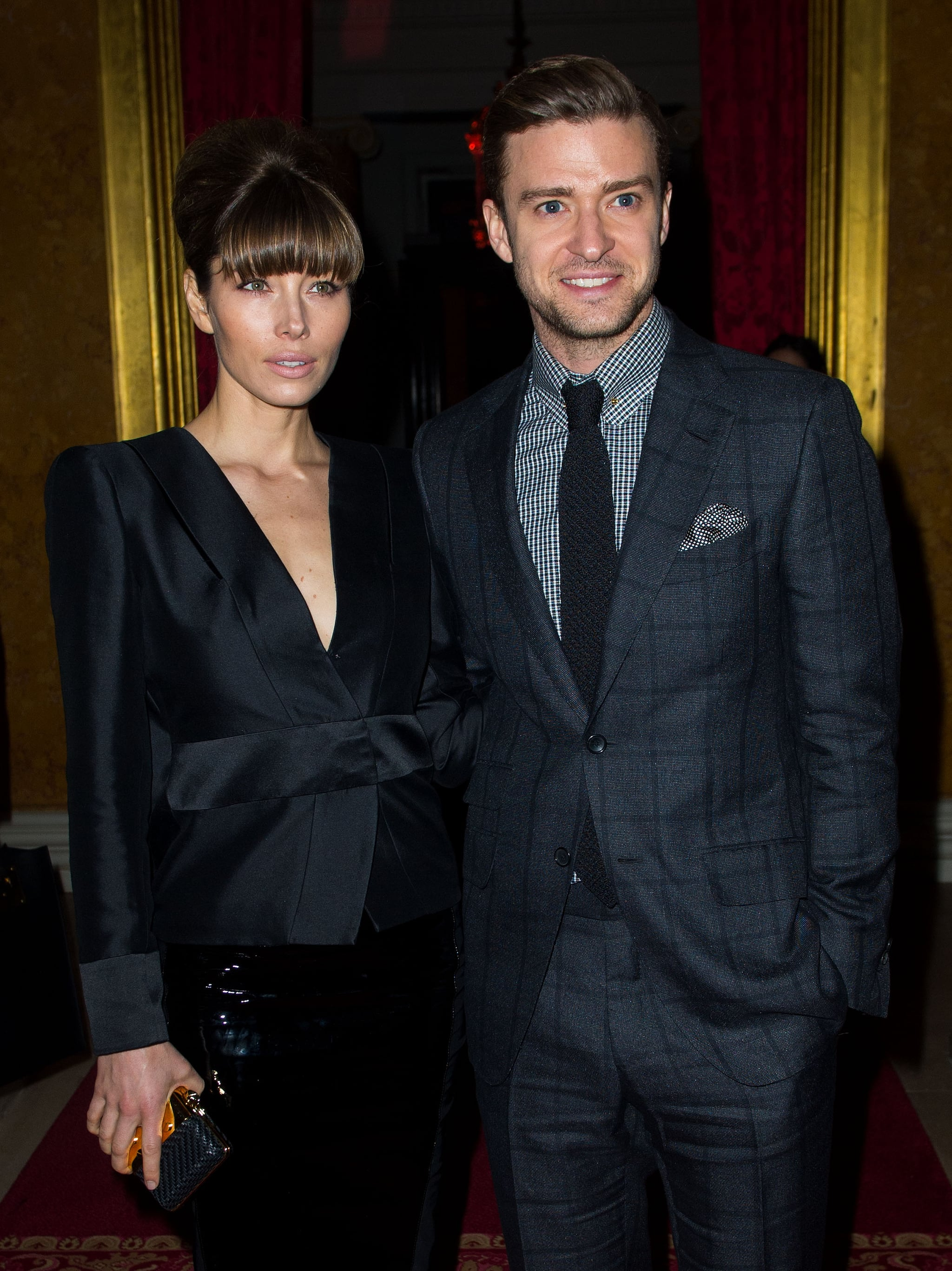 Justin Timberlake and Jessica Biel attended London Fashion Week together.