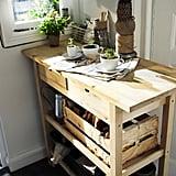 Birch Kitchen Cart