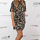 Molly Sims had serious flower power in a 3.1 Phillip Lim shift while attending the annual St. Barth Hamptons Gala.