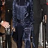 Victoria Beckham's Satin Suit Looked So Comfy