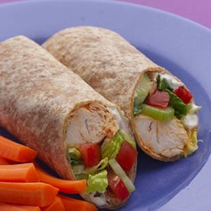 Fast & Easy Dinner: Buffalo Chicken Wraps