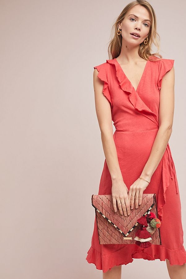 Corolla Wrap Dress Best Wedding Guest Dresses From Anthropologie