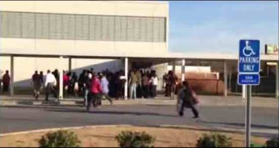 Parent Injured in School Choice Stampede (VIDEO)