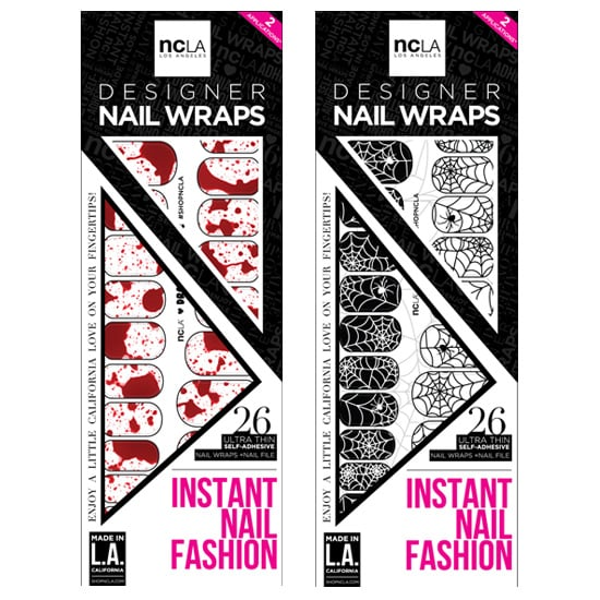 NCLA has mastered the art of nail wraps, and it's come up with two festive designs: Web of Lies ($16 each). Just adhere to your nails and seal with a top coat.