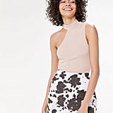 Motel Pelmo Cow Print Mini Skirt
