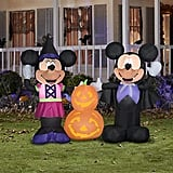 Gemmy Airblown Mickey and Minnie With Pumpkins Disney Halloween Inflatable