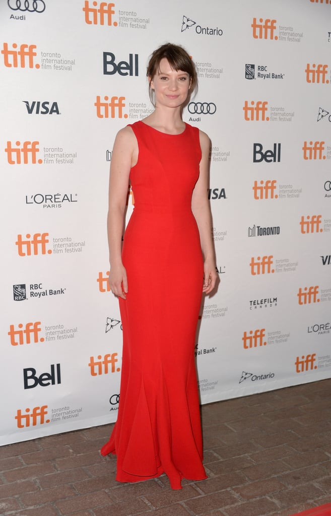 Mia Wasikowska slipped into a red Dior gown at the Only Lovers Left Alive premiere at the Toronto Film Festival.