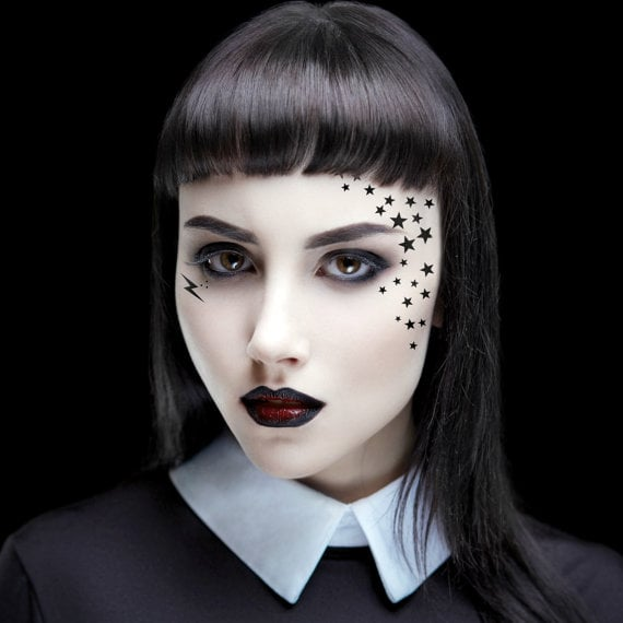 29b22ce6c Kat Von D | Temporary Halloween Face Tattoo | POPSUGAR Beauty Photo 20