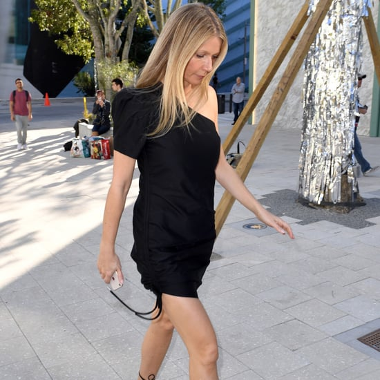 Gwyneth Paltrow Black Ankle-Wrap Sandals