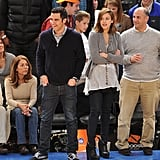 Jessica Alba may just have been taking in a Knicks game, but we love her easy-chic courtside look.