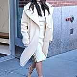Kim stepped out in New York City in February 2014.
