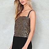 Nasty Gal Haven't Stopped Dancing Yet Sequin Crop Top