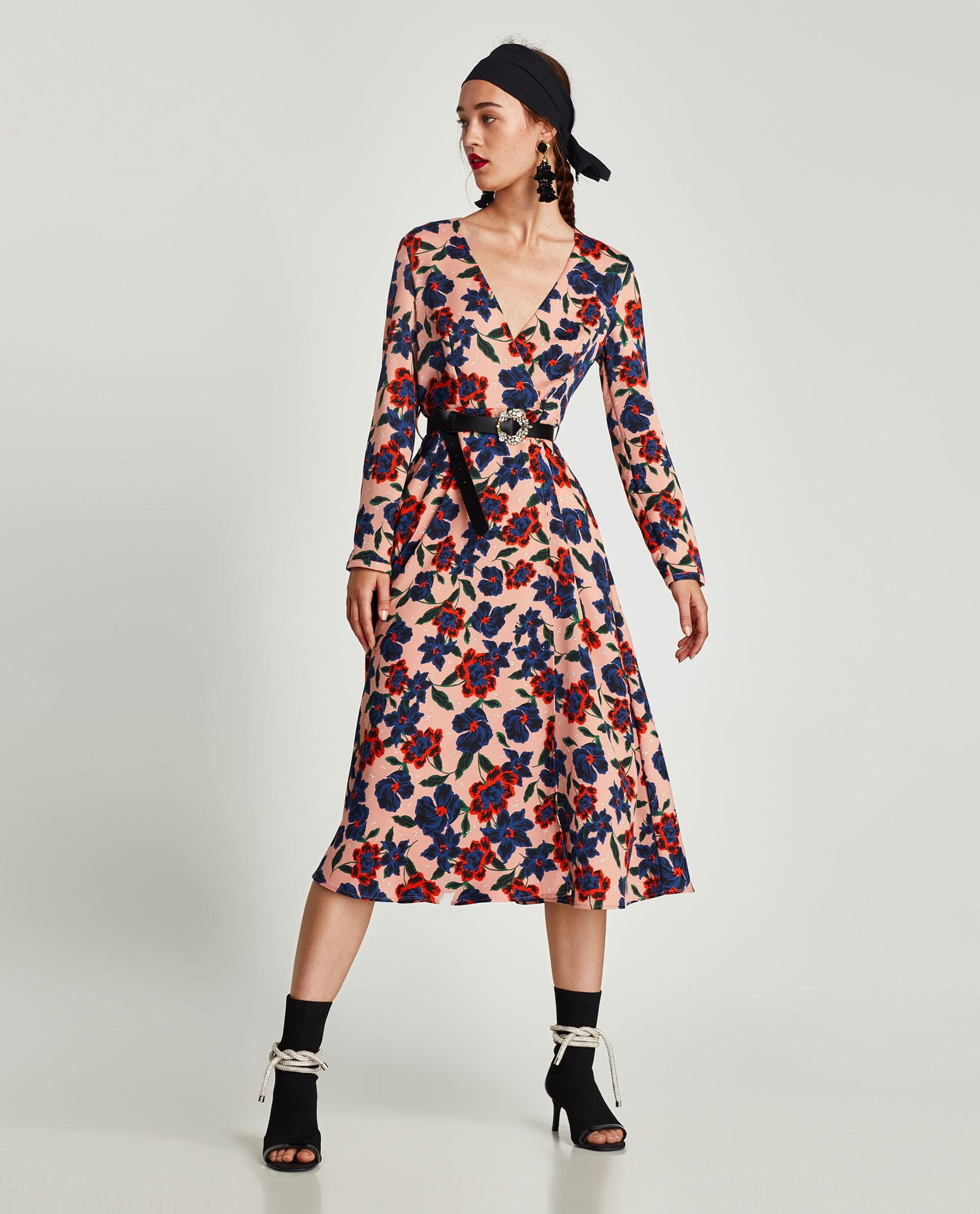 dcca95097 Zara Floral Print Midi Dress | Kate Middleton's Dress Has So Many ...
