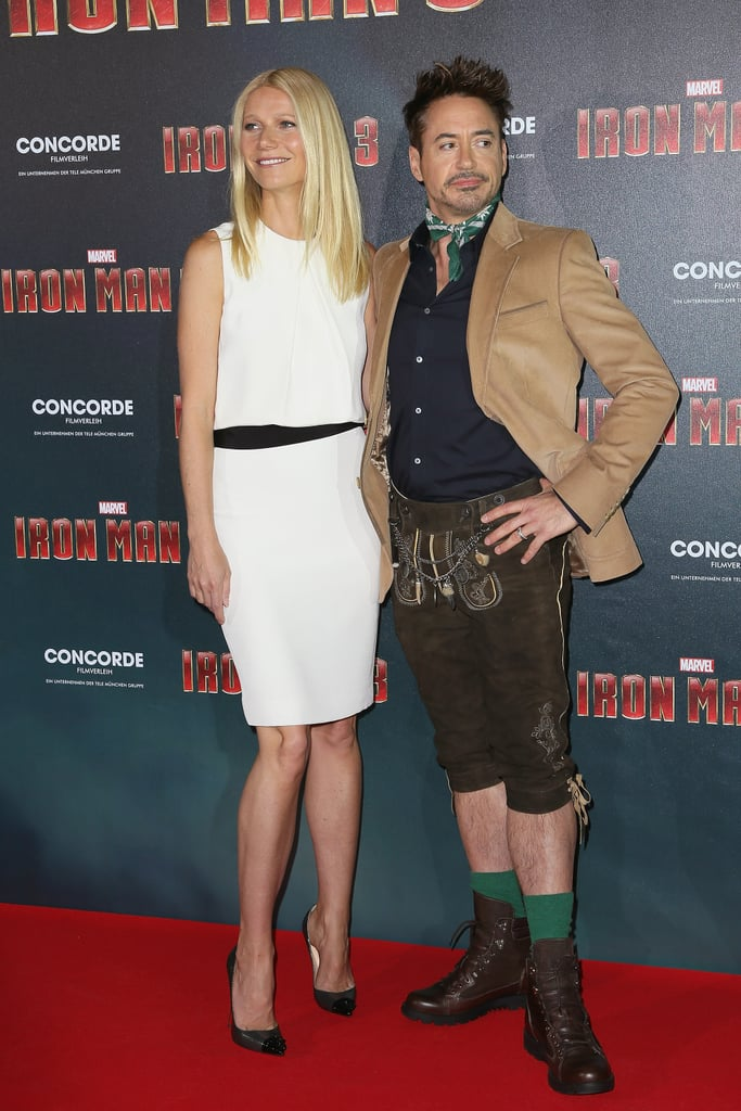 Gwyneth Meets Up With Lederhosen-Clad RDJ in Munich