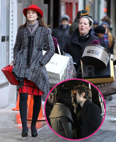 Pictures of Chace Crawford Kissing Tika Sumpter Plus Leighton Meester Shopping on Gossip Girl Set