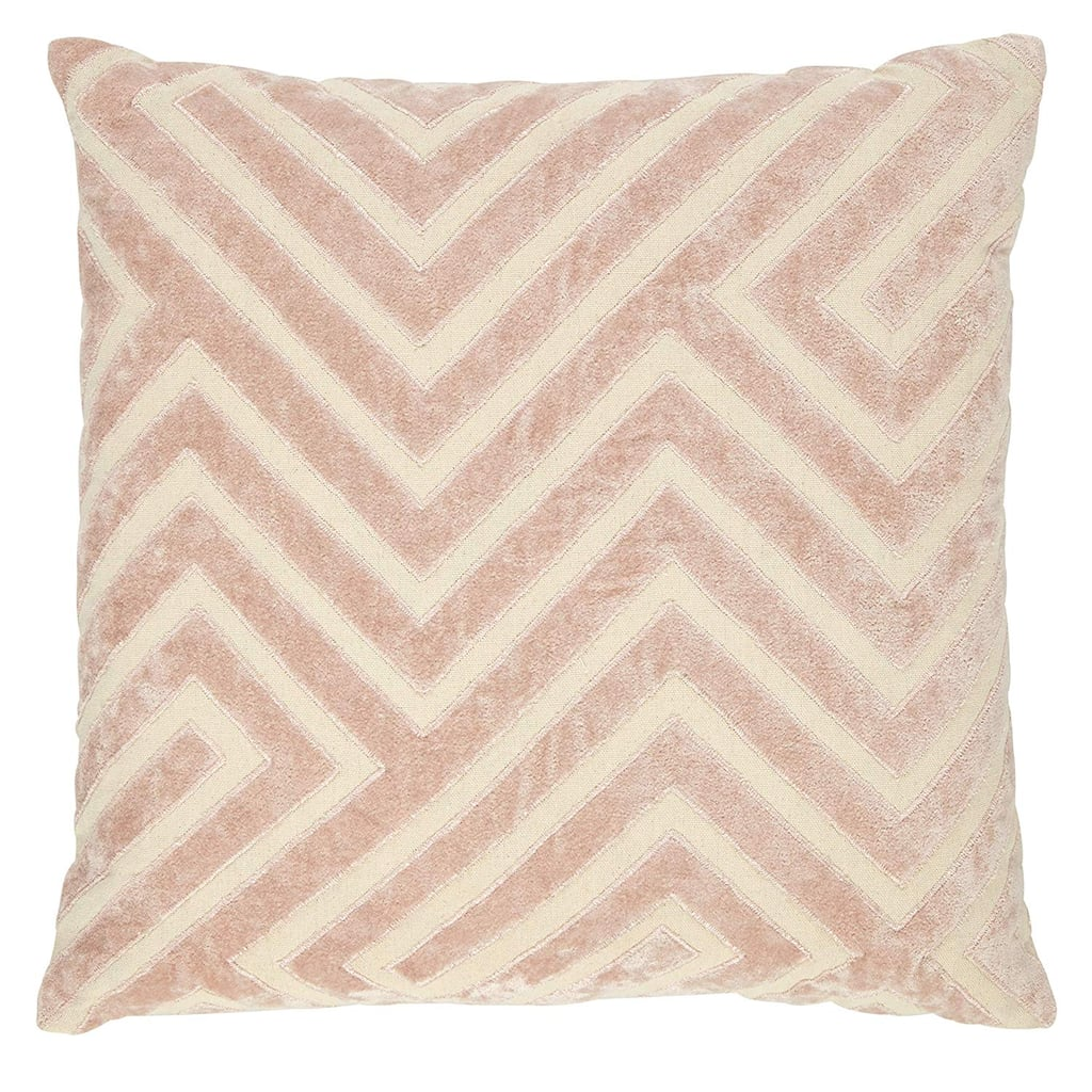 Rivet Modern Velvet Stripe Throw Pillow