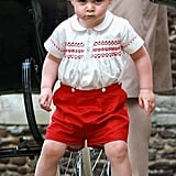 Prince George at Church of St. Mary Magdalene For the Christening of Princess Charlotte in July 2015