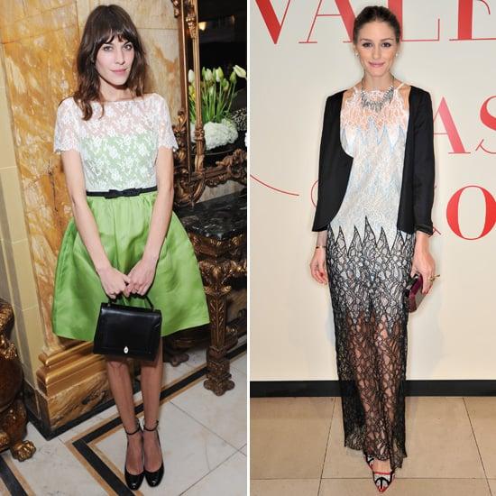 Alexa Chung V Olivia Palermo at Valentino: Master of Couture