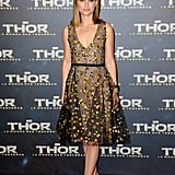 Natalie Portman's Dior Haute Couture embroidered tulle cocktail dress was sheer perfection at the Thor: The Dark World premiere.
