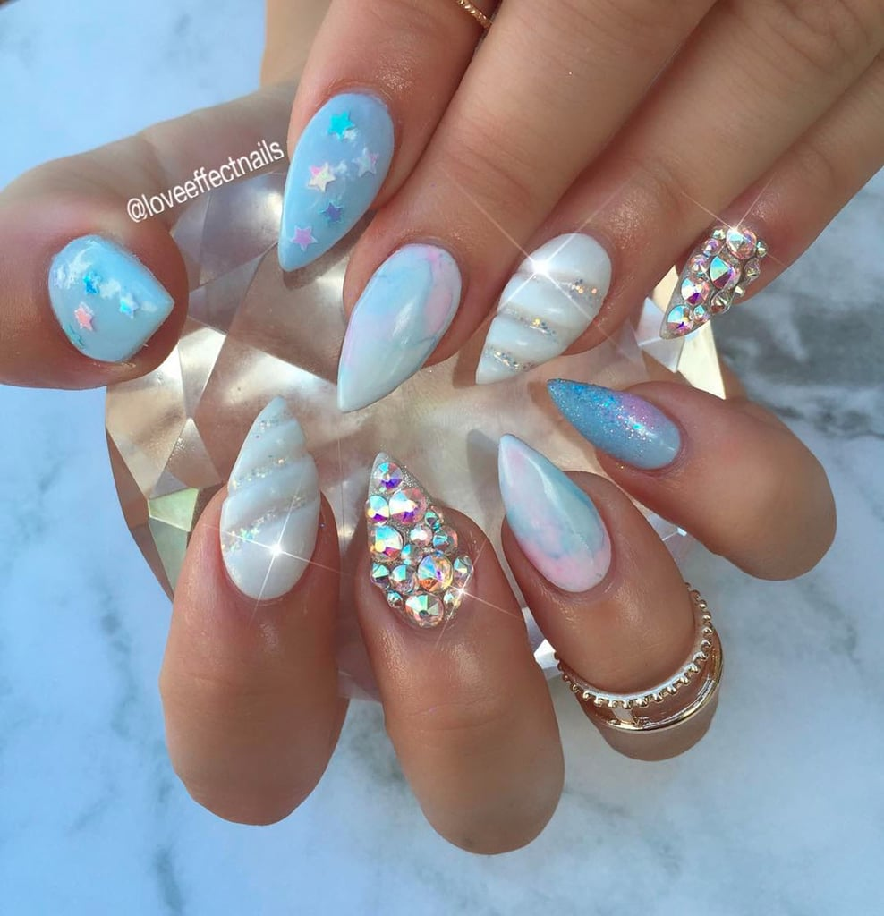 3D Unicorn Horn Nails | POPSUGAR Beauty UK