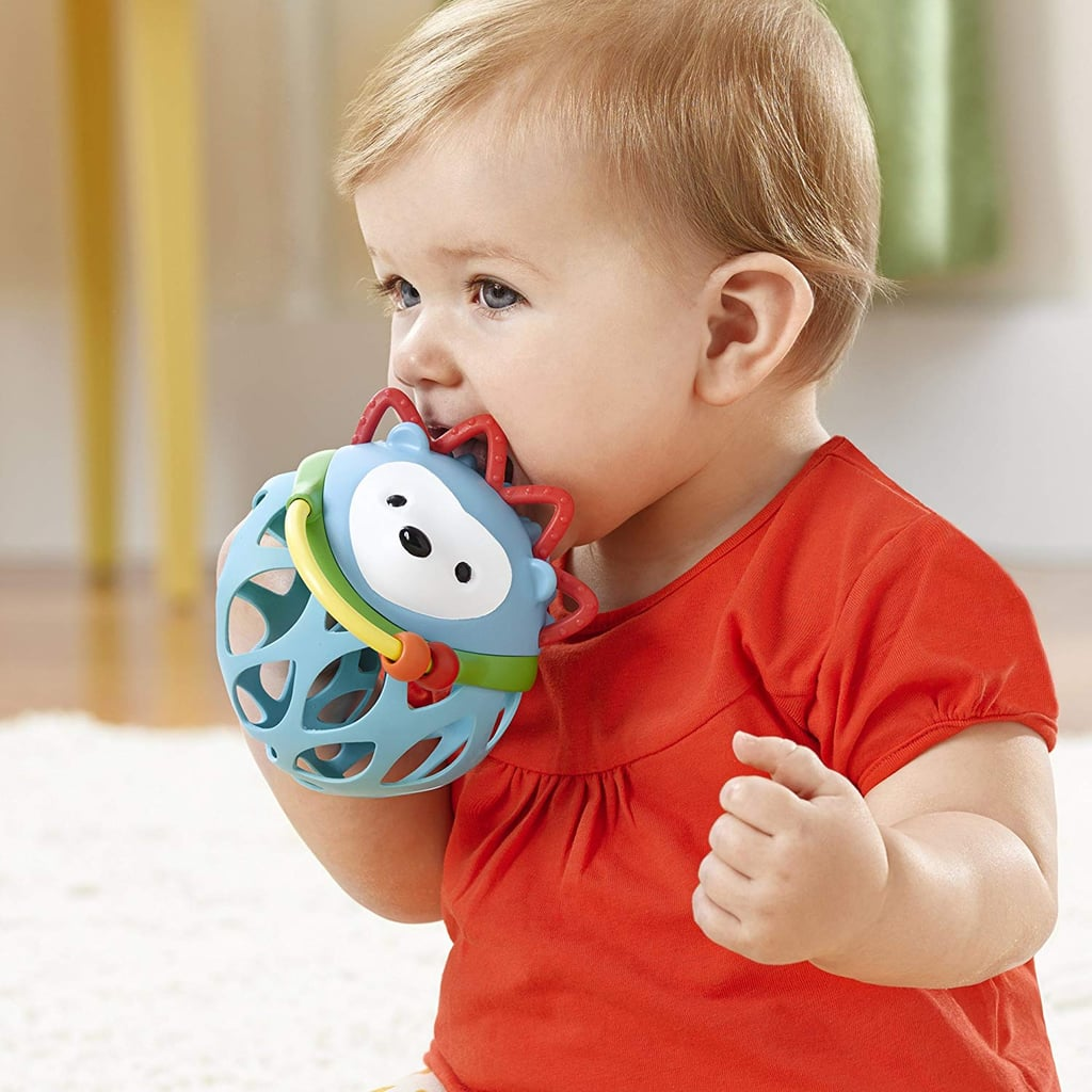 For Infants: Skip Hop Explore and More Roll Around Rattle Toy, Hedgehog