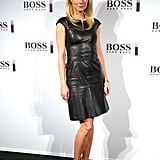 Gwyneth Paltrow's sexy-cum-sophisticated Boss Black leather dress made us want one of our own.