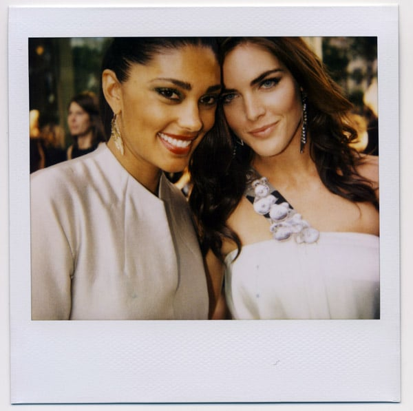 Too much gorgeous for one picture: Rachel Roy and Hilary Rhoda.