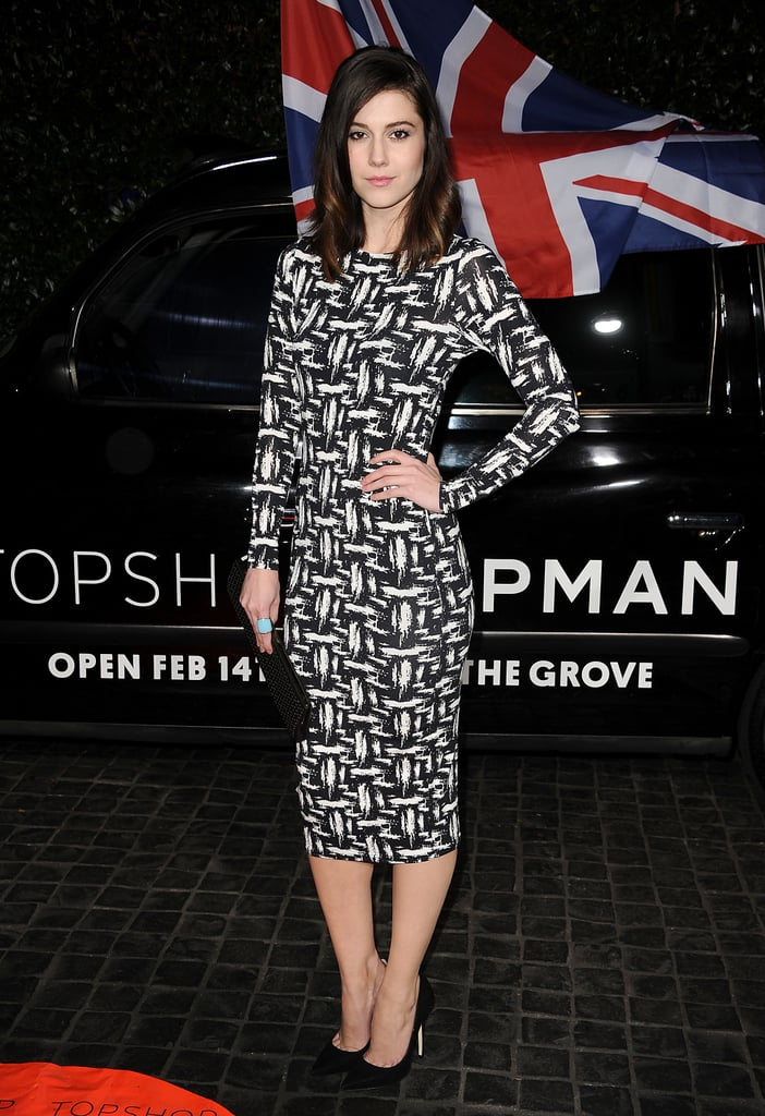 Mary Elizabeth Winstead went for all-over print in this body-hugging long-sleeved dress.