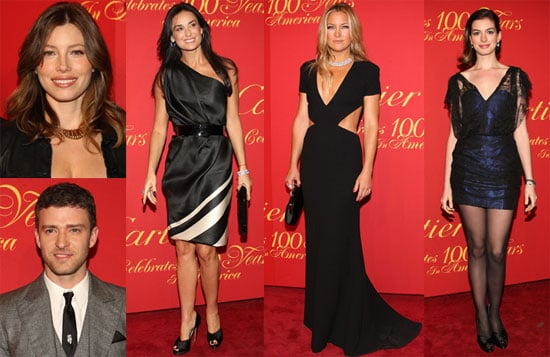 Jessica, Justin, Kate and Anne Celebrate Cartier's USA 100