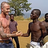 David Beckham dealt with the Sierra Leone heat by stripping off his shirt in January 2008.