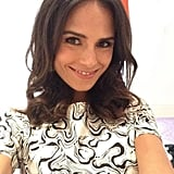 Jordana Brewster snapped a selfie to show off her cool printed dress. Source: Twitter user JordanaBrewster