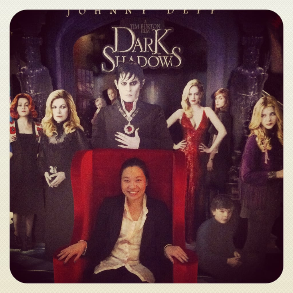 PopSugar ed Jess at the screening for Dark Shadows.