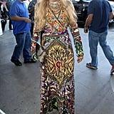 Paris Hilton caught a flight at LAX on Wednesday.
